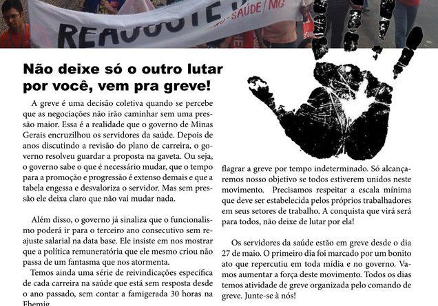 Panfleto vem pra greve FHEMIG DIREITO DE GREVE greve tempo indeterminado