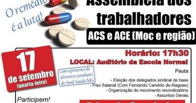 cartaz assembleia ACS e ACE