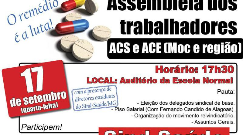 cartaz assembleia ACS e ACE
