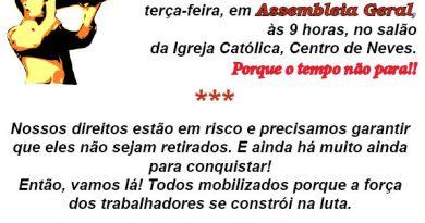 Novo Neves assembleia do dia 04 de julho