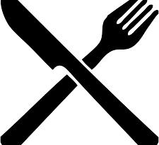 faca e garfo pretos