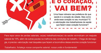 Cartaz Campanha salarial 2018