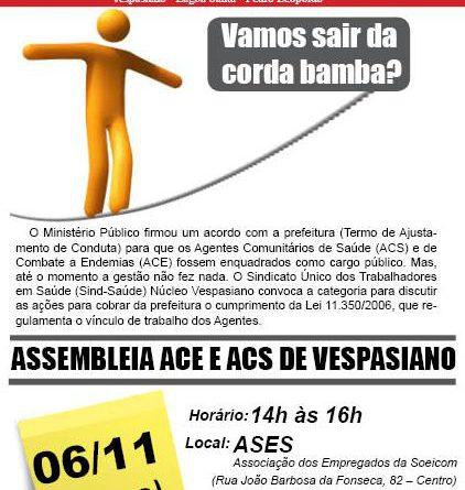 06 11 Mosquitinho Assembleia Agentes Regulamentação