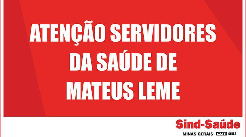 ATENÇÃO MATEUS LEME