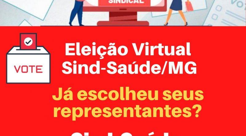 Você já votou em quem vai representar a categoria da saúde em Minas Gerais? A eleição foi aberta hoje às 8h e vai até às 18h de domingo (10).